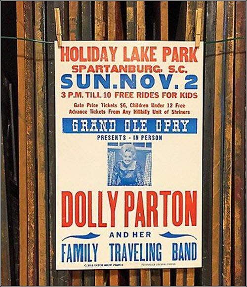 Dolly Parton Poster Hatch Show Print Nashville