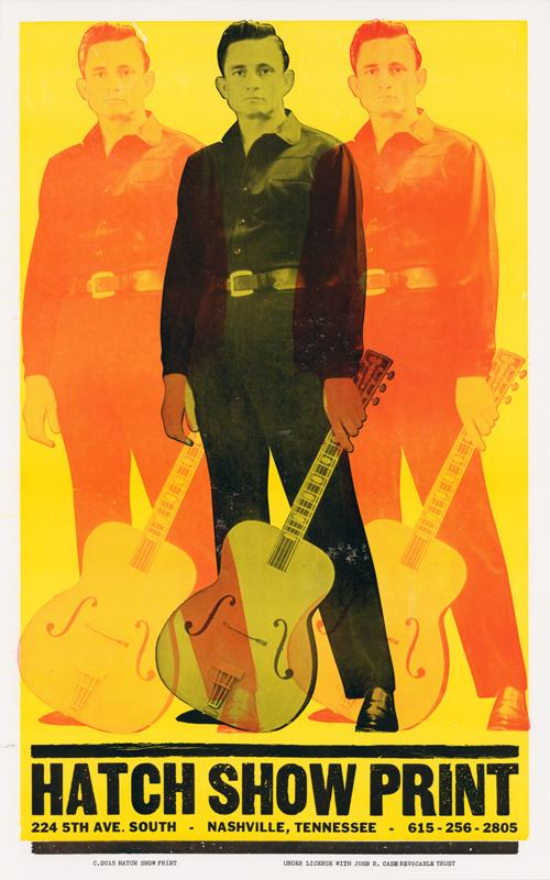 Hatch Show Print Johnny Cash What's Cookin' Mercantile