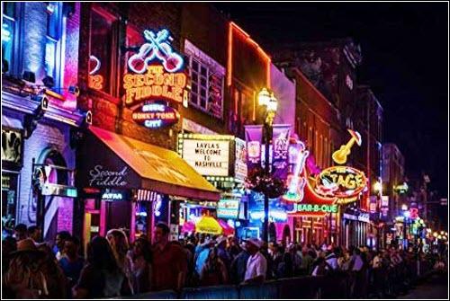 Nashville Neon at Night Print What's Cookin' Nashville
